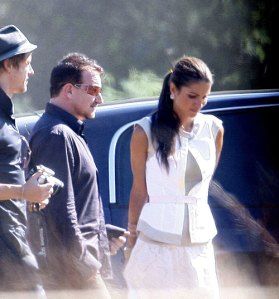 Queen Rania with Bono