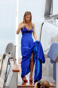 Bar Refaeli posses on a luxury yacht in Cannes