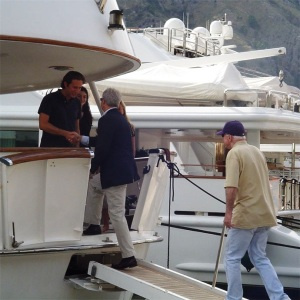 McCain Boarding a Luxury Yacht