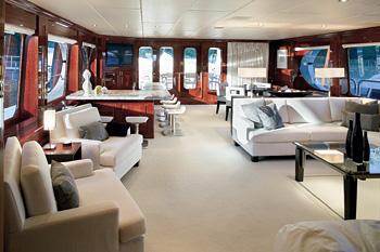 The Yacht's Main Saloon