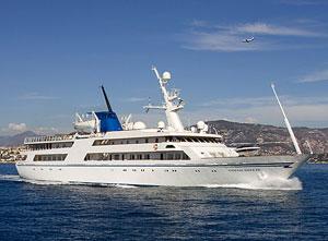 Yacht Saddam underway