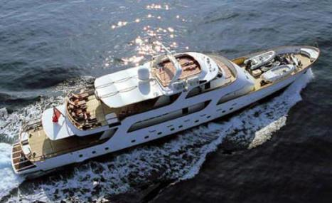 The motor yacht