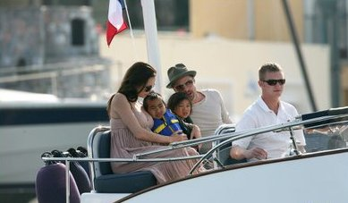 Brad and Angelina are no strangers to yachting.