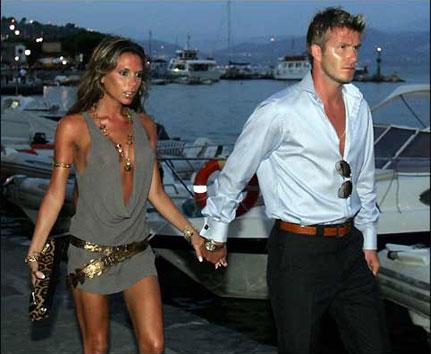 David Beckham With Victoria