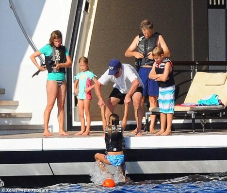 Bill Gates with his family aboard Serene superyacht - Image by Xclusivepix/Xposure