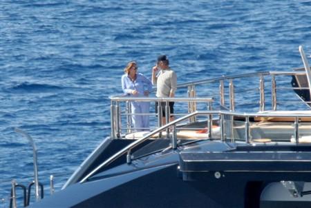 Steven Spielberg aboard his mega yacht Seven Seas