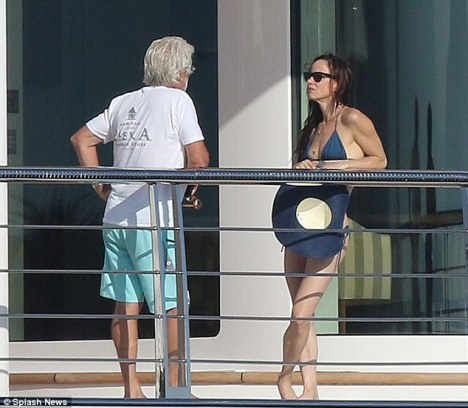 Juliette Lewis aboard RISING SUN Yacht - Photo by Splash News