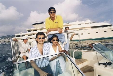 Saudi Prince Bin Talal Bin Abdulaziz Al Saud aboard TT Kingdom 5KR Yacht - Photo by Ammar Abd Rabbo ABACA