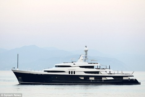 70m Mega Yacht AMADEUS - Photo credit to Splash News