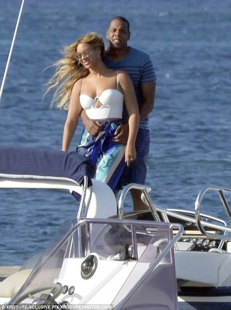 Jay Z and Beyonce in Sardinia, Italy enjoying holiday aboard Galactica Star yacht - Photo credit to Xposure/xclusive/pix xposurephotos.com