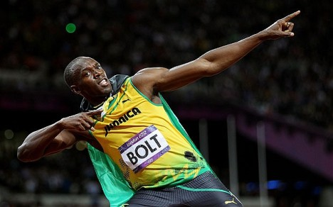 Usain Bolt - Image credit to telegraph.co.uk