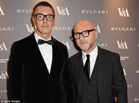 Domenico Dolce (right) and Stefano Gabbana - Photo credit to getty images